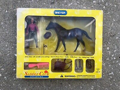 New NIB Breyer Horse Paddock Pal Saddle Club Set Chocolate Jeannie Western #1026