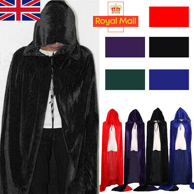Halloween /& Christmas Hooded Cloak Robe Medieval Witchcraft Cape Robe Costume J