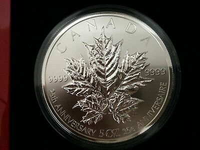 2013 Canada 25th Anniversary of the Silver Maple Leaf .999 Silver 5 oz Coin SALE