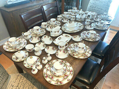92PC Royal Albert Celebration Dinner Service Sold Individually Never Used