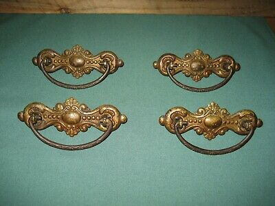 Antique Ornate Victorian Drawer Pulls lot of 4