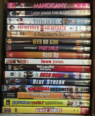 Lot of 16 Great Black/African-American Comedy/Drama/Music/Action Movies on DVD