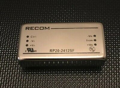 Recom RP20 F 20W Isolated DC-DC Converter Through Hole