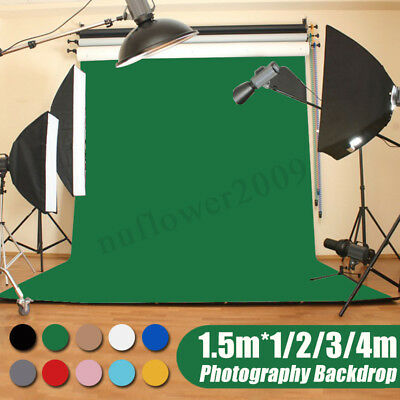 5x3FT - 5x13FT Pro Solid Color Studio Prop Photography Backdrop Photo