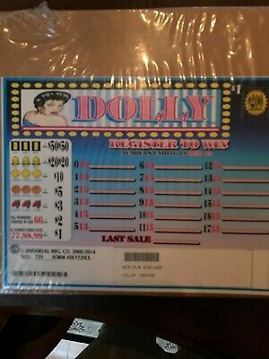 """""""Dolly"""" Pull Tabs 1 Window 729 Tickets  Free Shipping USA Only"""