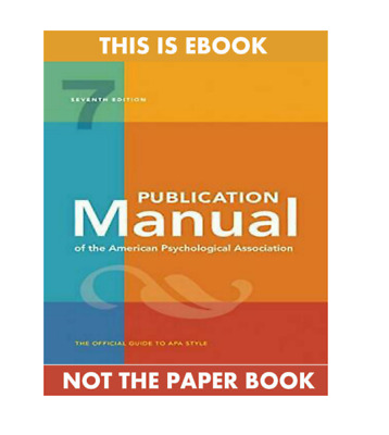 Publication Manual of the American Psychological... (P*D*F) 7th Edition 2020