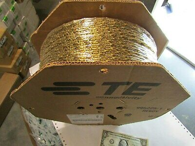 """Full Reels of 10,000 Tyco/Amp .250"""" Faston Crimp Terminals 14AWG Brass Female"""