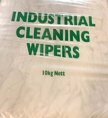 10KG - White Sheeting LOW LINT Wiping Cleaning Polishing Cotton Cloth Rag Sheets