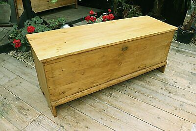 Fabulous Old Pine Georgian Sword Chest/Trunk/Table/Storage Box - We Deliver!