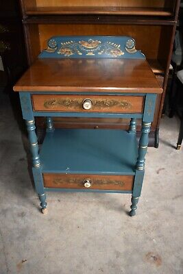 Vintage Hitchcock Bedroom Nightstand End Side Table