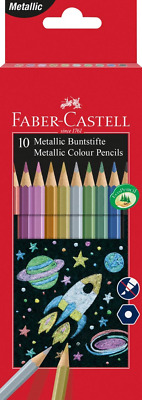 Faber-Castell 201583 Metallic Colour Pencil Pack of 10
