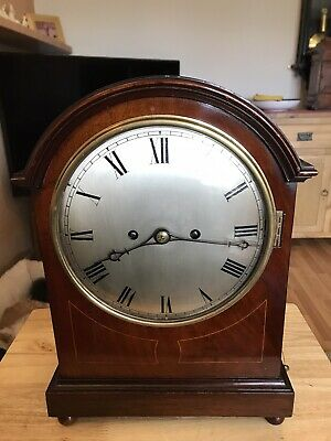 Stunning Mahogany Cased Double Fusee Westminster Chimes Clock On Multi Gongs