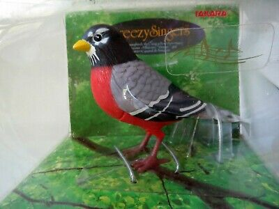 Breezy Singers Robin In Box New Old Stock 1991 Takara Bird Singer