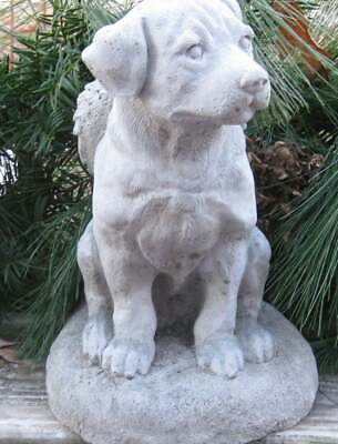 Rottweiller With Angel Wings Statue