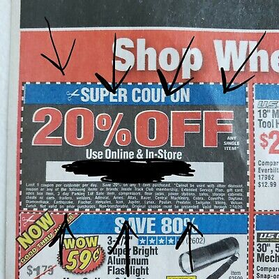 Harbor Freight Tools Coupons (16) Super Coupon 20 Off Expires On 07.18.2020 Tool