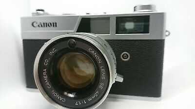 【AS-IS】 Canon Canonet QL17 35mm Film Rangefinder Camera 40mm F1.7 from Japan 215