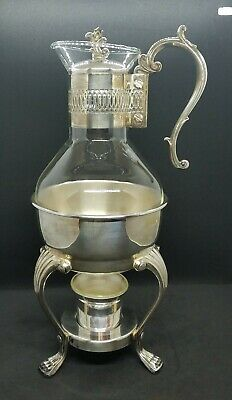 F. B. Rogers Silver Co. Taunton, Mass. Carafe and Warmer w/Candle