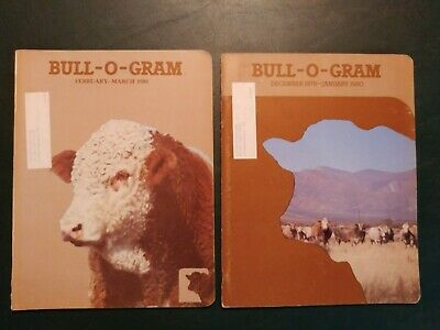 (2) 1979-80 Charolais Bull-O-Gram Beef Cattle Magazines - Breeder Ads - Shows ++