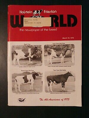 "Holstein World 1976 The 1975 All-American Awards + ""Paclamar Bootmaker"" Story"