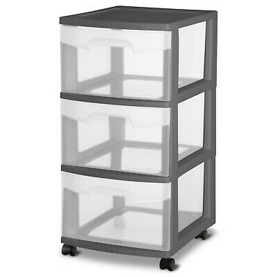 Sterilite 3 Drawer Cart Gray Flannel LIMITED PRICE