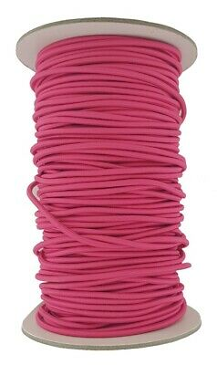 Elastic Cord 5 mm round sold in lengths of 2,3,4,5, Metres Cerise pink