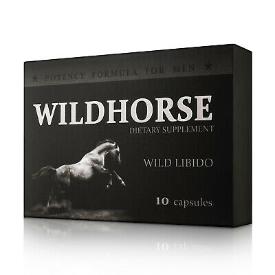 WILDHORSE Sex Drive Potency Erection Pills Tablets For Men