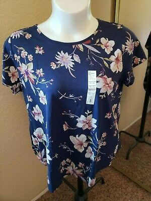 SONOMA Goods For Life NWT Size XXL Blue Floral Top