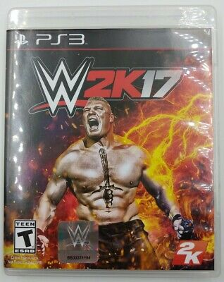 WWE 2K17 (Sony PlayStation 3, 2016) PS3 Complete with Manual