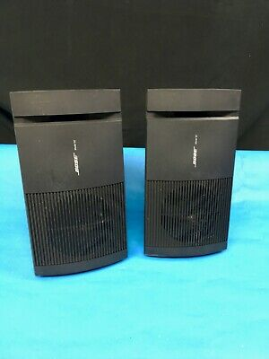 Lot of 2 Bose Model 100 Home Theater Speakers Black - 11 inch wedge / bookshelf