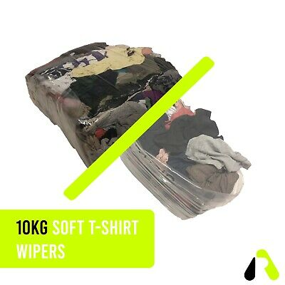 10kg Industrial Cleaning Rags / Wipers / Cloths Soft T-shirt