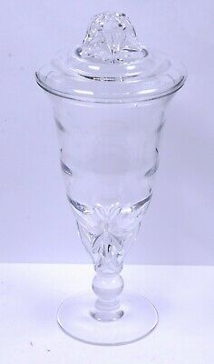 """Antique Apothecary General Store Counter Top Candy Display Jar Clear Glass 13.5"""""""