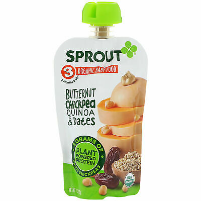 Sprout Organic Baby Food Stage 3 Butternut Chickpea Quinoa & Dates 4 oz pouches