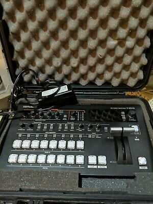 Roland V-60HD System Group HD Video Switcher and carrying case