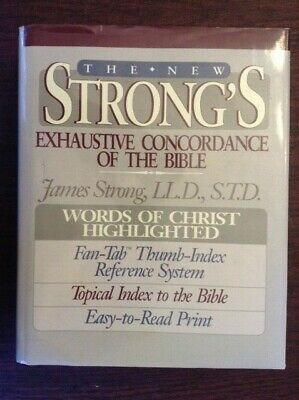 New Strong's Exhaustive Concordance Thumb-Index VG Cond HC DJ