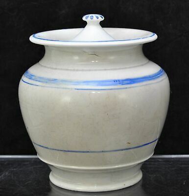Antique Staffordshire Pearlware Tobacco Jar Early 19th Century c 1820
