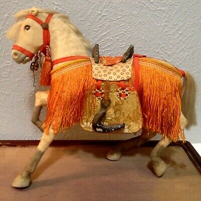 Antique Vintage Japanese Hina Horse On Stand Very Good Vintage Condition