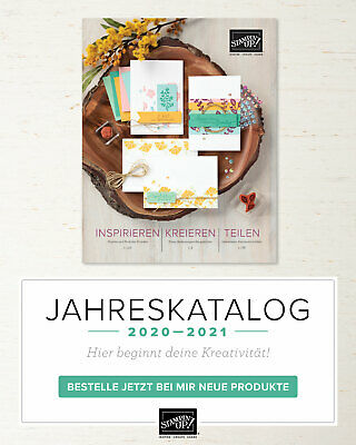 "Stampin'Up! Bastelset ""Notizbuch"" mit brandneuem Stampin'Up! Katalog 2020-2021"