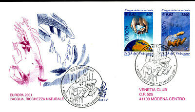 Europa Water Natural Resource 2001 Vatican Fdc