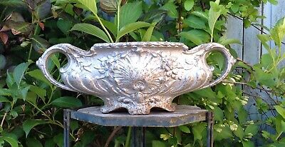 Antique French Silvered Cast Iron Jardiniere Garden