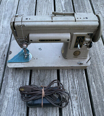 Vintage Singer Sewing Machine Heavy Duty 301A with Case