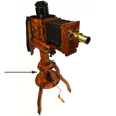 Victorian magic lantern or studio stand, adjustable