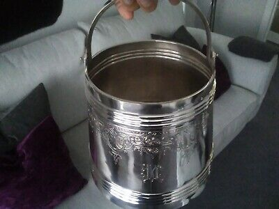 Humongous Russian Solid Silver Vodka Ice Pale, Bucket