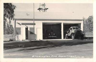 Bloomington California Fire Department Real Photo Vintage Postcard AA11294