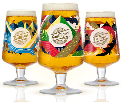 San Miguel 2020 Limited Edition Chalice Glass or Beermats Celebrating 130 Years