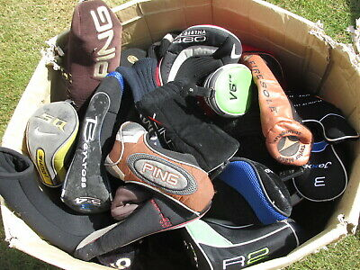 Mixed lot of used golf headcovers, mostly fairway covers