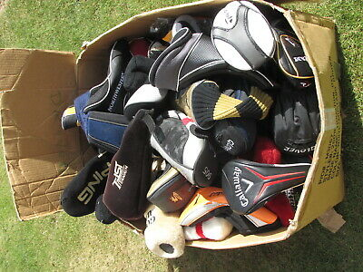 Mixed lot of used golf headcovers, mostly driver covers