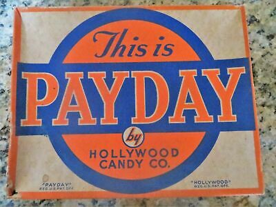 Vintage Payday Candy Store Box Display by Hollywood Candy Co. Collectible