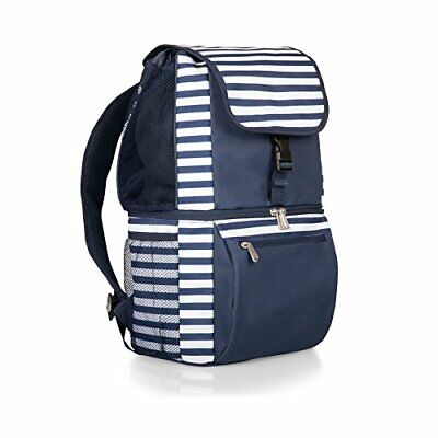 ONIVA - a Picnic Time Brand Zuma Insulated Cooler (Navy/White Stripes)