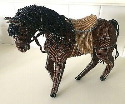 Handcrafted Glass Beaded English Horse