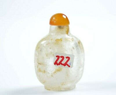 A Chinese Rock Crystal Snuff Bottle